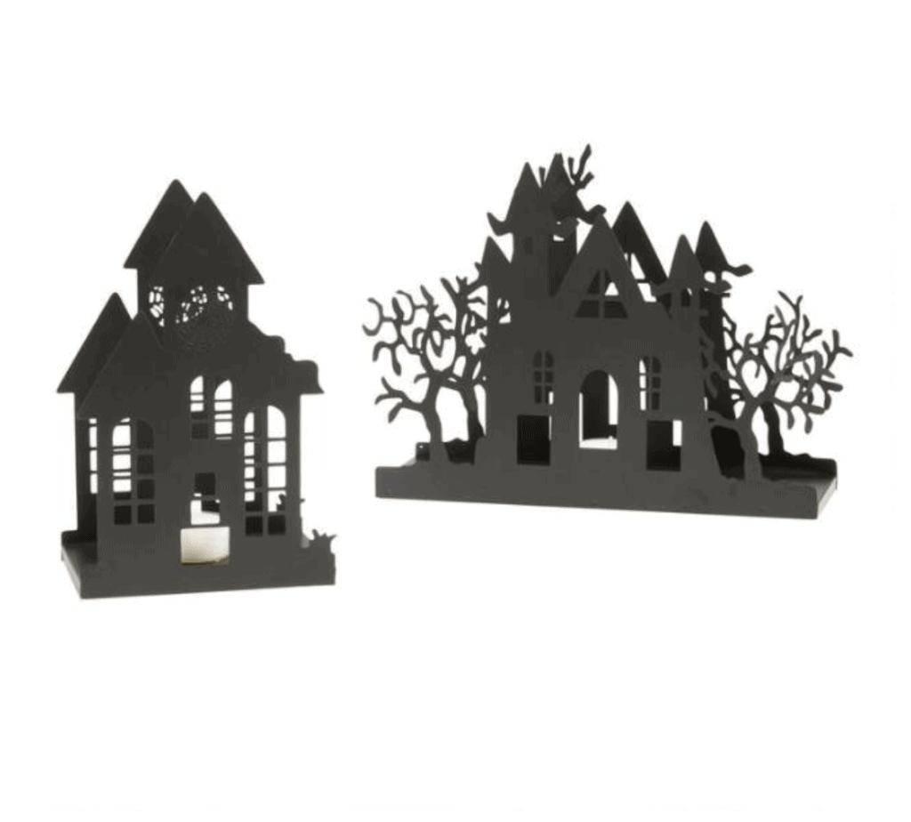 black haunted house luminary