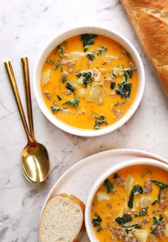 Creamy Sausage and Kale Soup