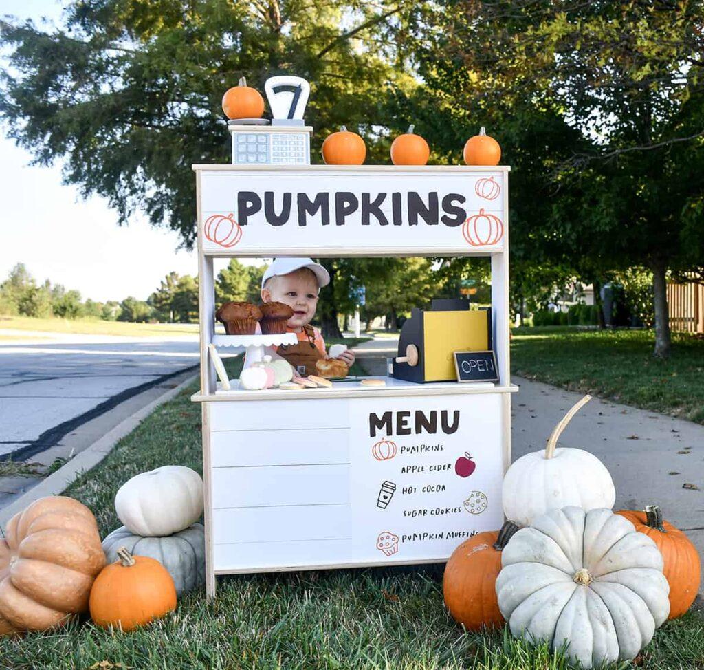 DIY Pumpkin Stand – IKEA DUKTIG Hack!