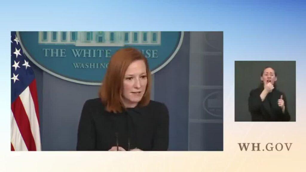Jen Psaki Slams Reporter For Equating Biden To Trump