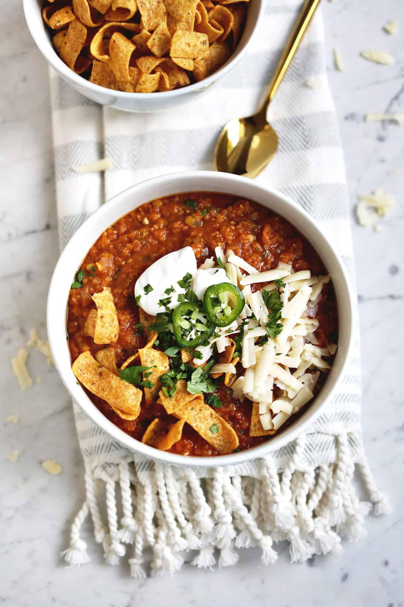 Red lentil vegetarian soup
