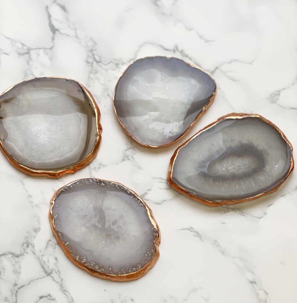 DIY Gilded Crystal Coasters