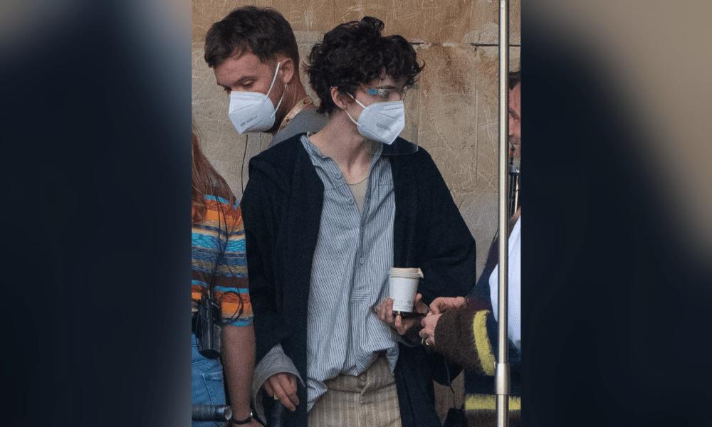 Timothée Chalamet Spotted Filming On Set Of 'Wonka'